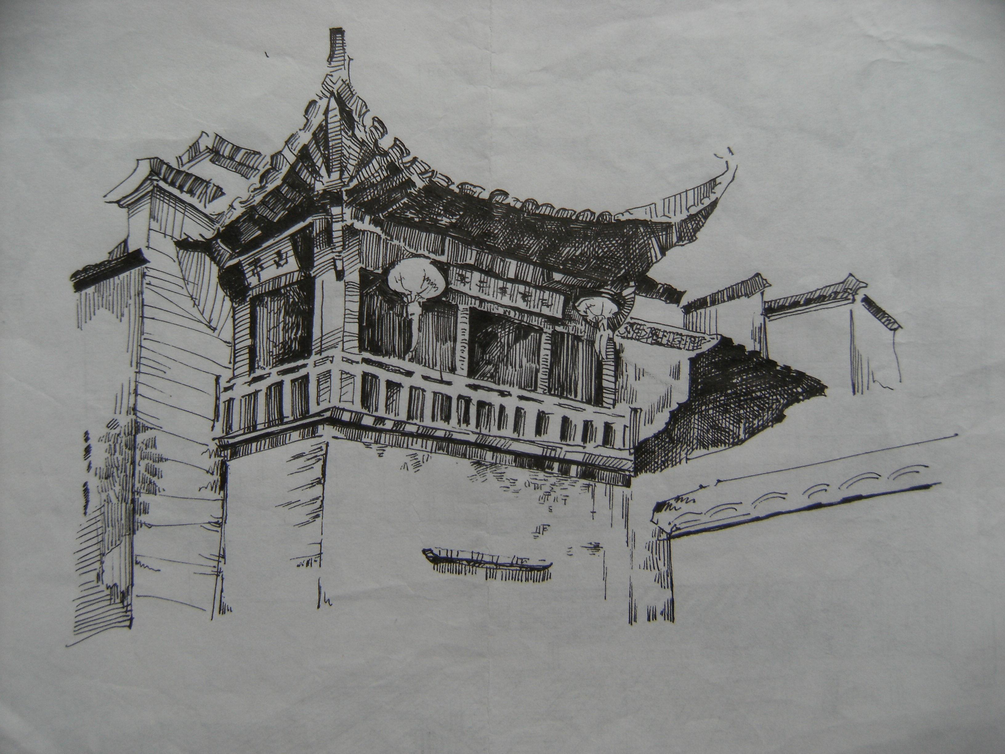 钢笔画~5