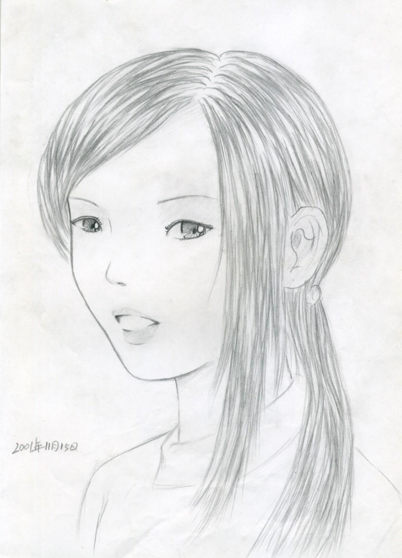 梦中女孩素描 由 色鼠