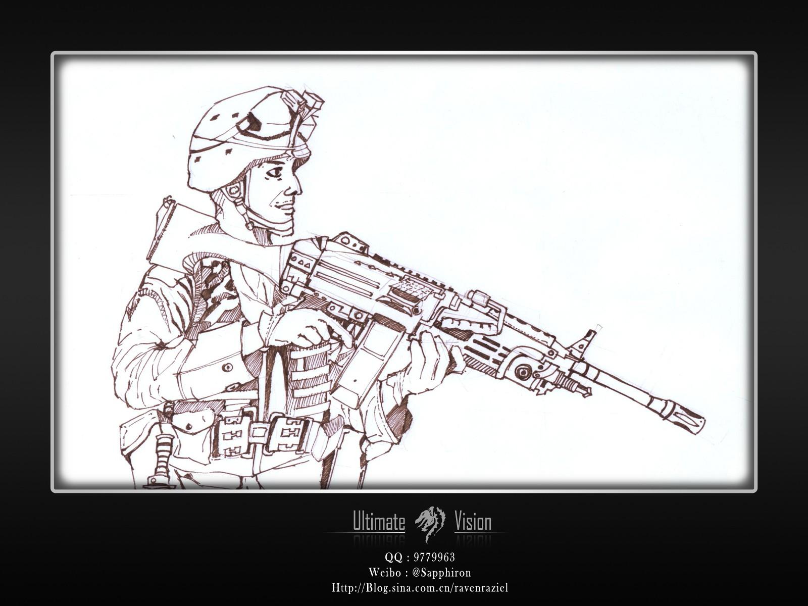 手绘-士兵