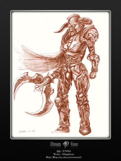 手绘-魔兽世界女战士
