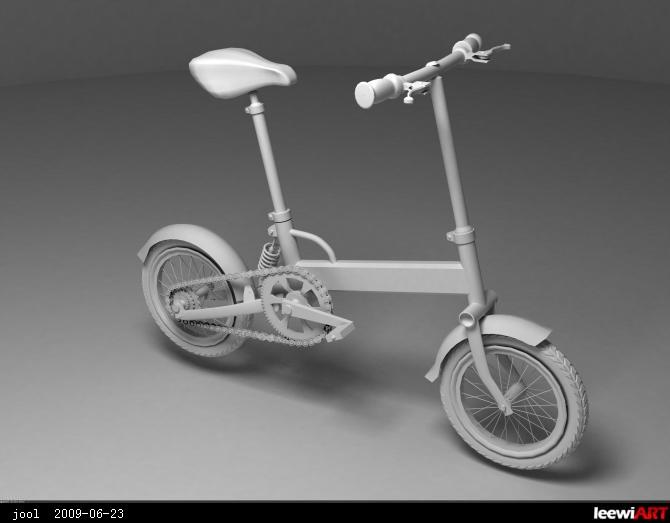 自行车模型练习 by jool