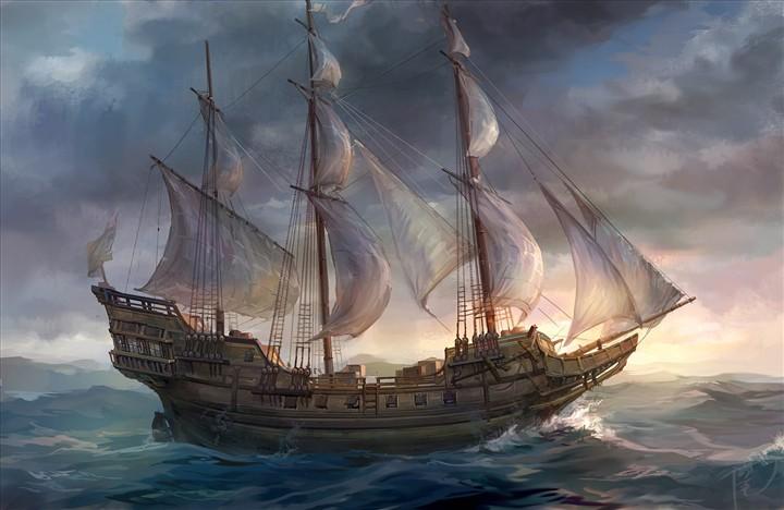 加勒比海盗_中型商船