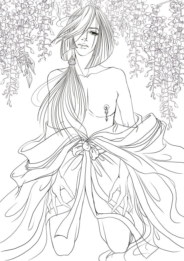 紫藤萝花的简笔画步骤