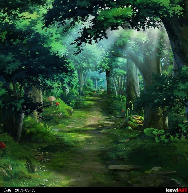 游戏森林素材png