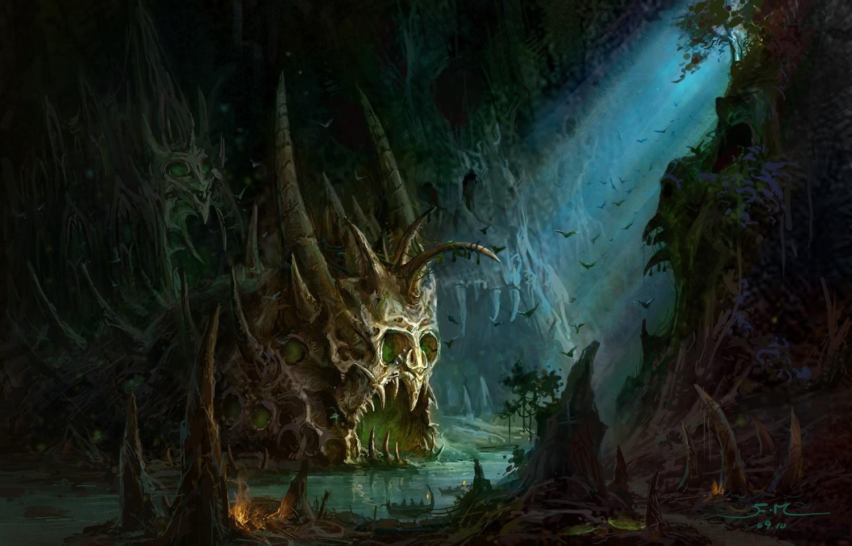 鱼骨洞穴 由 sqqdqqk 创作 | 乐艺leewiART CG精英艺术社区,汇聚优秀CG艺术作品