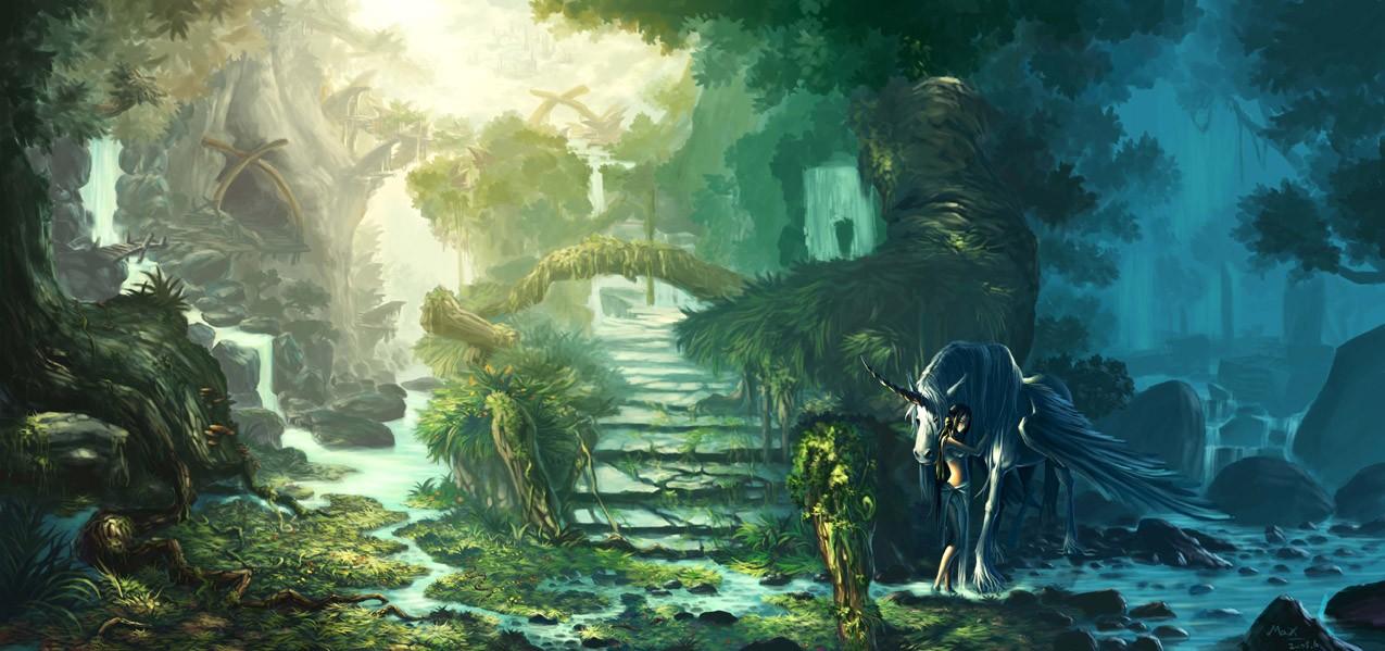 森林仙境 由 squareff99 创作 | 乐艺leewiart cg精英图片