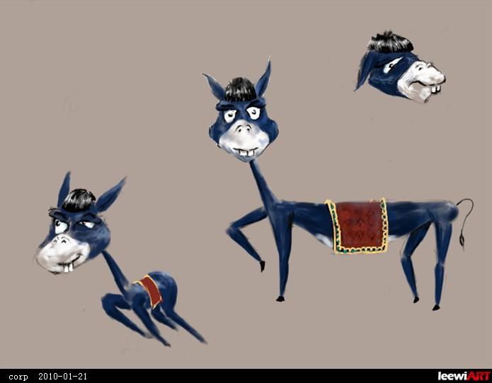 国画驴子的画法步骤