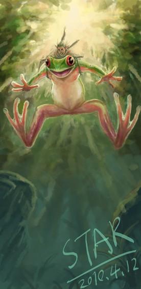 小树蛙高清图片