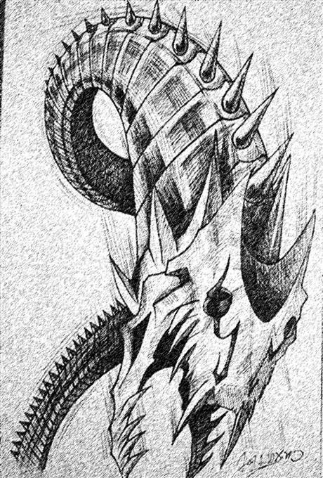 蛇素描步骤图片