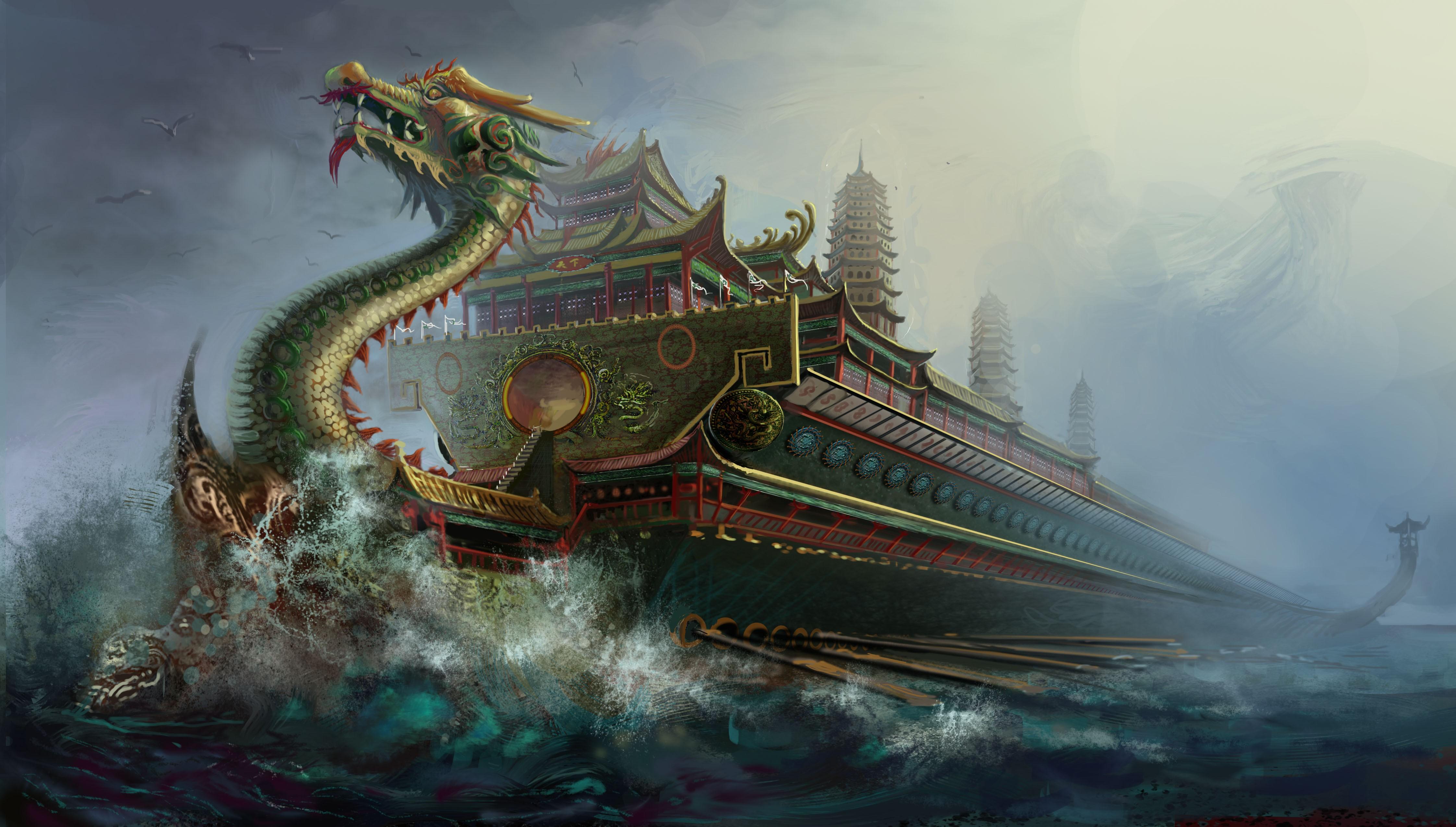 龙船怎么画步骤