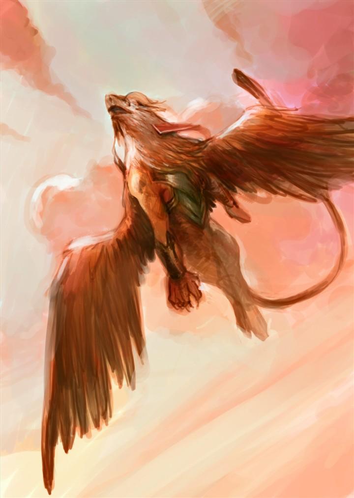 三年级画画大全狮鹫