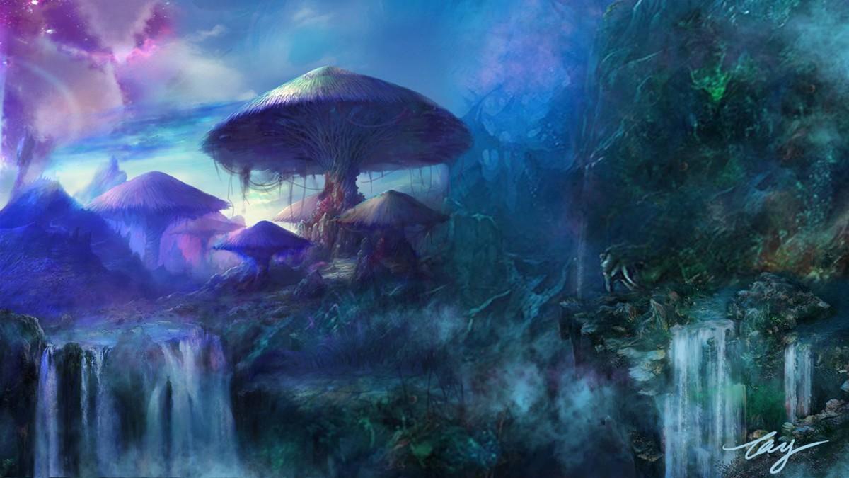 二维动画森林场景