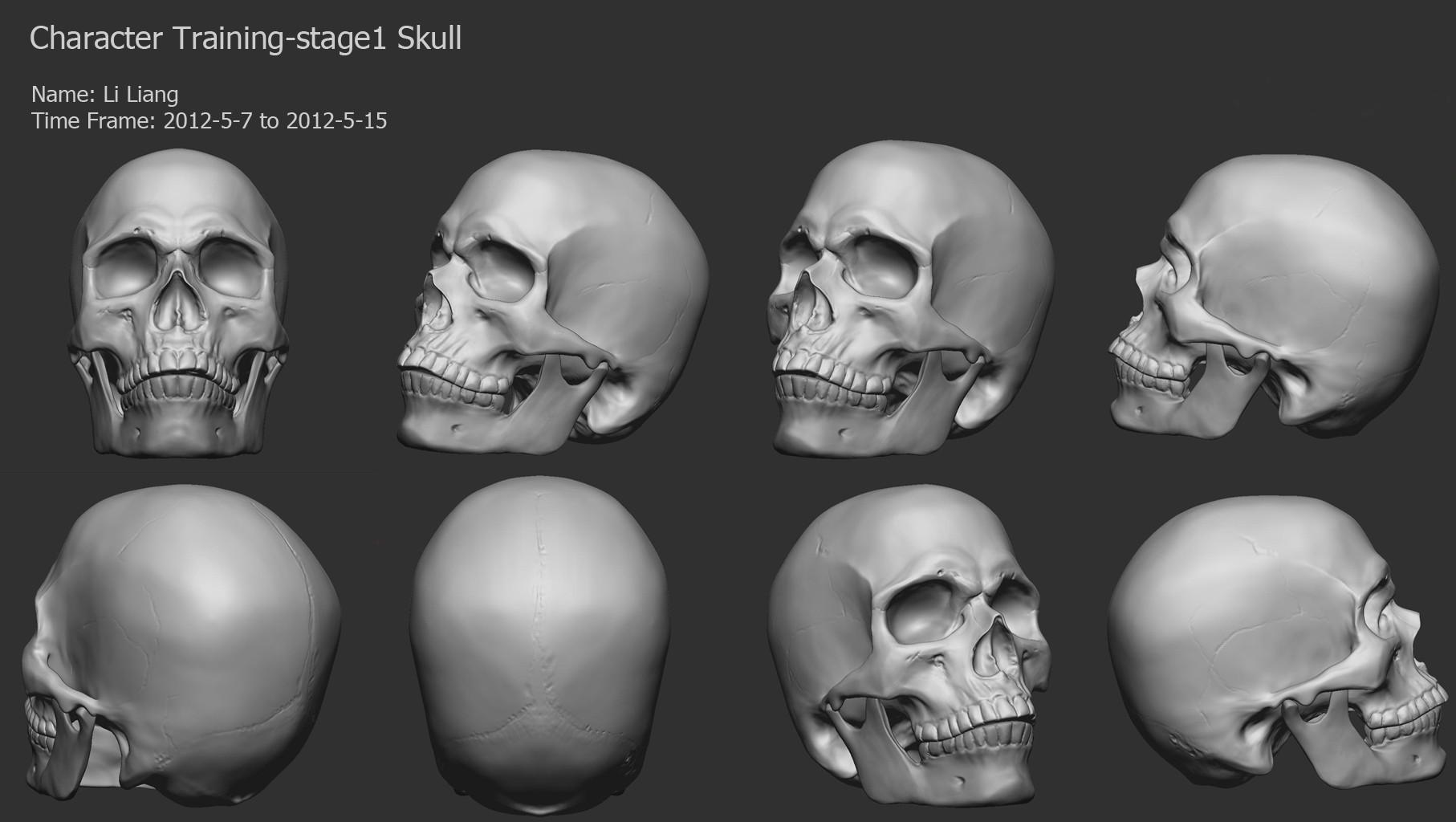 还是头骨雕刻