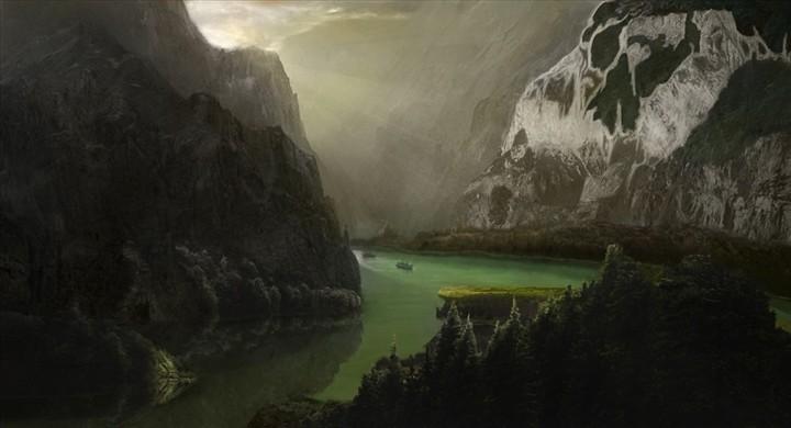 风景画系列(山谷) 由 keran 创作 | 乐艺leewiart cg