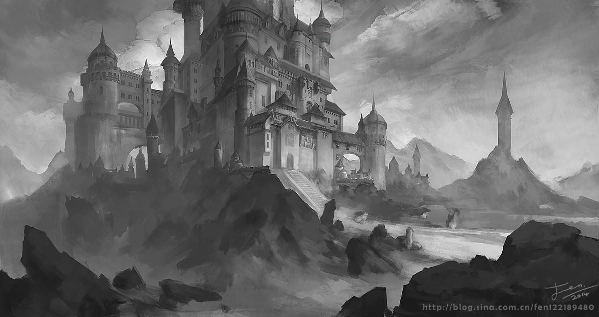 资讯平台_黑白城堡 由 fen122189480 创作 | 乐艺leewiART CG精英艺术社区,汇聚 ...