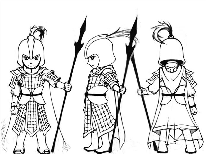 动画角色设计三视图
