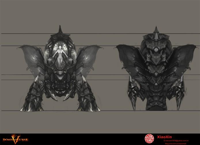 首先是正視與背視圖; 動漫角色設計三視圖;; 在基本確定了第六個方案