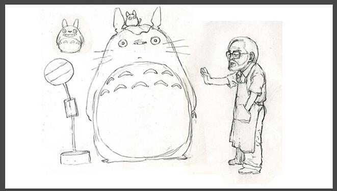 龙猫可爱简单画法
