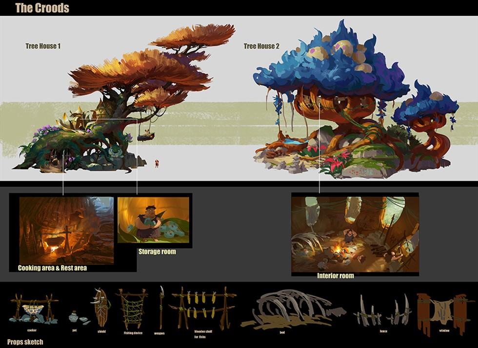 浦晓然/场景概念设计皇家园林中的园林设计图片