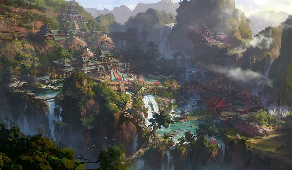 场景设计师,后从2010年9月开始转职于 原画 概念设计