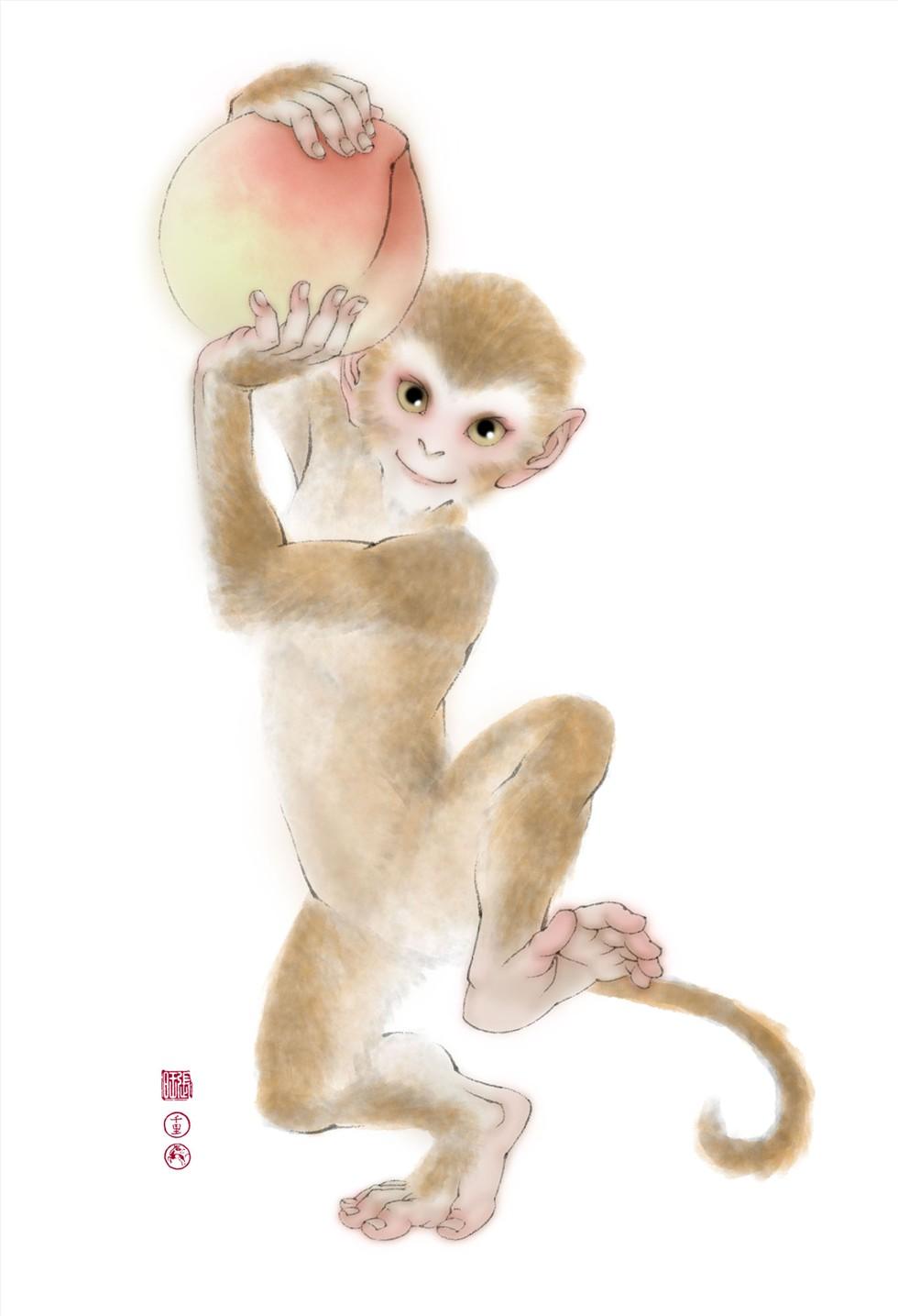 狗年大吉 剪贴画-祝贺大家猴年大吉